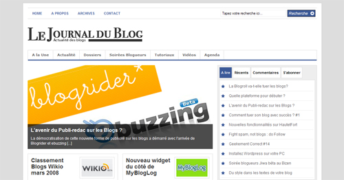 le journal du blog