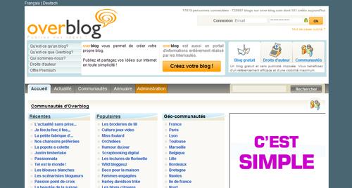 Overblog screenshot