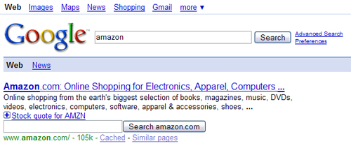 Google Moteur Amazon