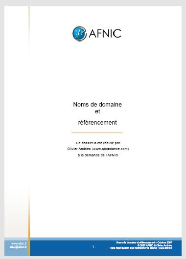 Livre Blanc : Référencement et Noms de domaine