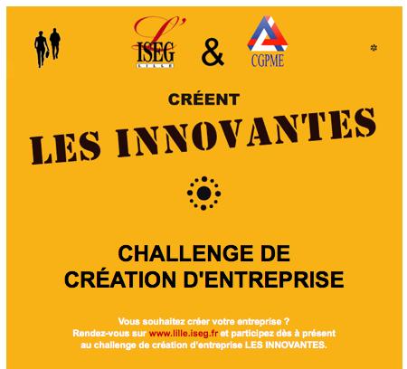 Challenge création entreprise Innovantes