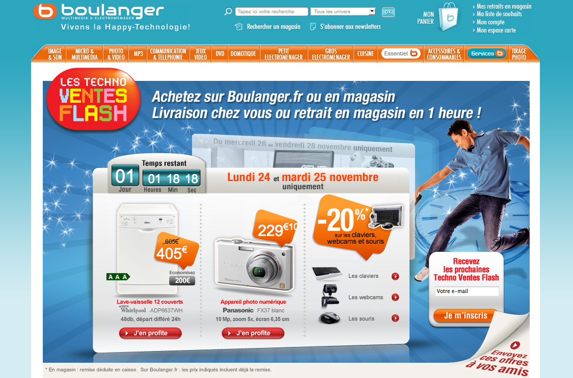 Ventes Flash Boulanger
