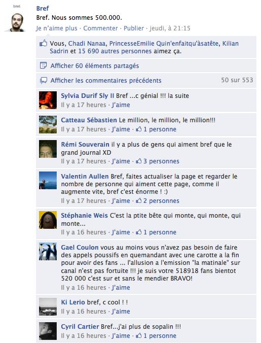 Un Jour Un Statut De Page Fan Facebook Bref Camille Jourdain